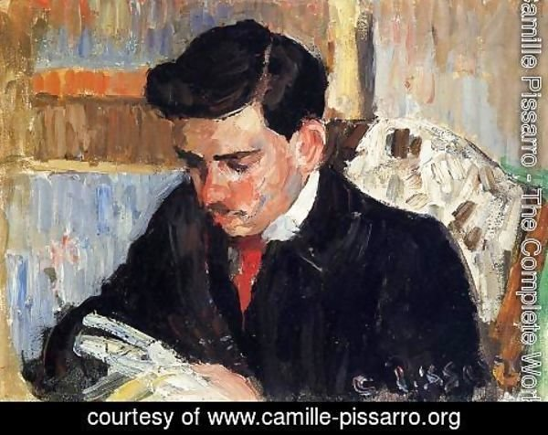 Camille Pissarro - Portrait of Rodo Pissarro Reading