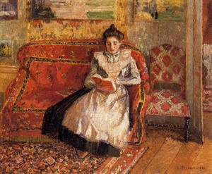 Camille Pissarro - Jeanne Reading