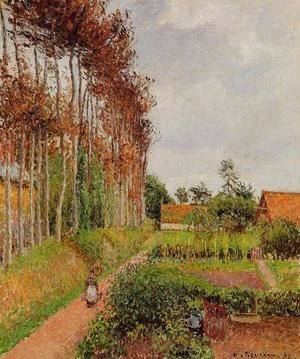 Camille Pissarro - The Steading of the Auberge Ango, Varengeville