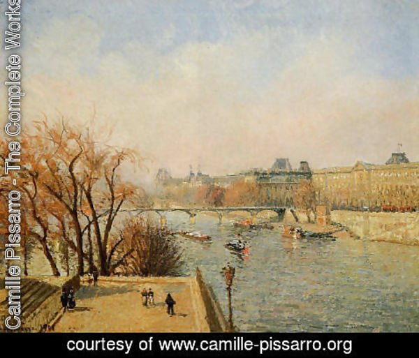 Camille Pissarro - The Louvre: Morning, Sun