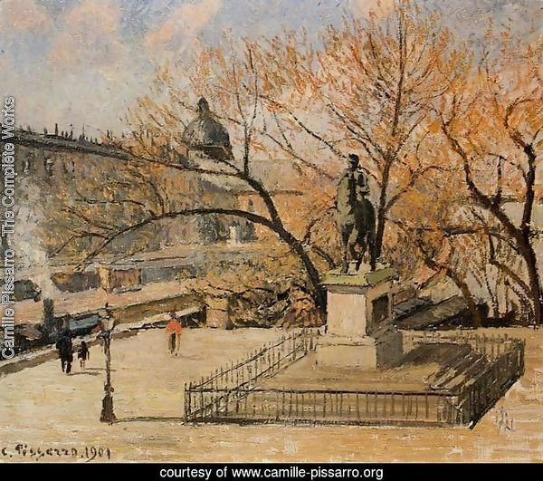 The Pont-Neuf, Statue of Henri IV: Morning, Sun