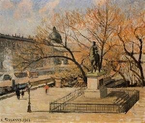 Camille Pissarro - The Pont-Neuf, Statue of Henri IV: Morning, Sun