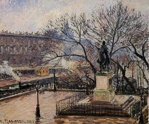 Camille Pissarro - The Raised Tarrace of the Pont-Neuf and Statue of Henri IV
