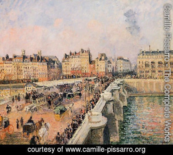 Camille Pissarro - The Pont-Neuf: Afternoon Sun