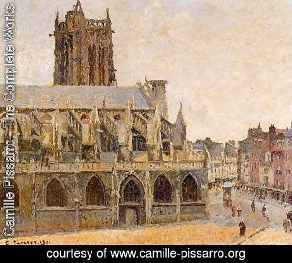 Camille Pissarro - The Church of Saint-Jacques, Dieppe