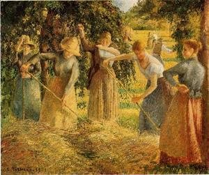 Camille Pissarro - Harvest at Eragny