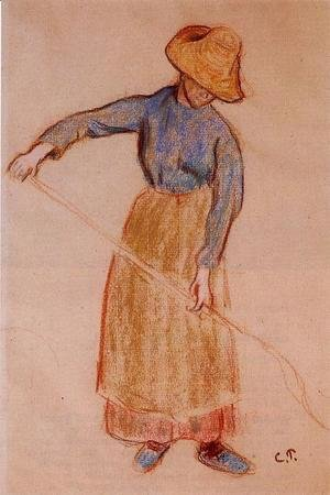 Camille Pissarro - Peasant with a Pitchfork