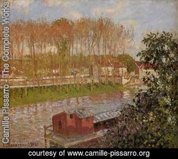 Camille Pissarro - Setting Sun at Moret