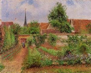 Vegetable Garden in Eragny, Overcast Sky, Morning
