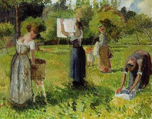 Camille Pissarro - Laundresses at Eragny