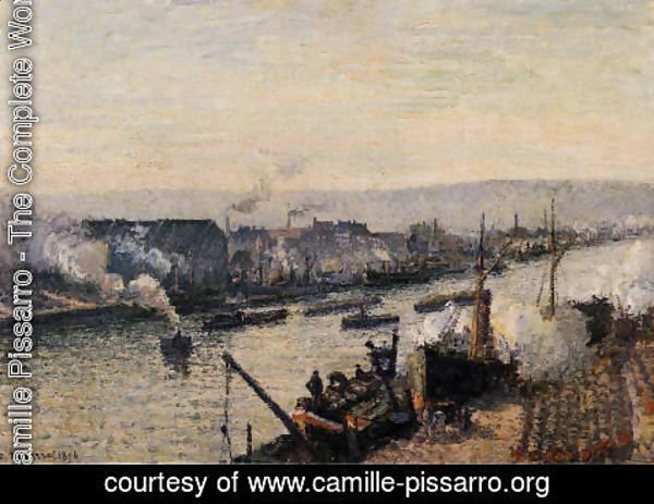 Camille Pissarro - The Port of Rouen, Saint-Sever