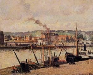 Camille Pissarro - Morning, Rouen, the Quays