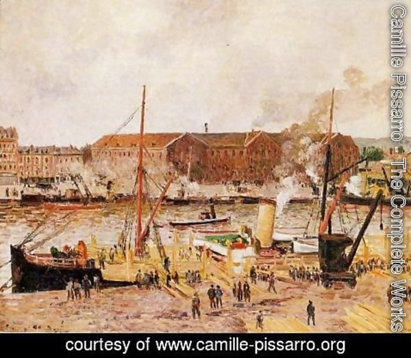 Camille Pissarro - Unloading Wood at Rouen