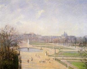 Camille Pissarro - The Bassin des Tuileries: Afternoon, Sun