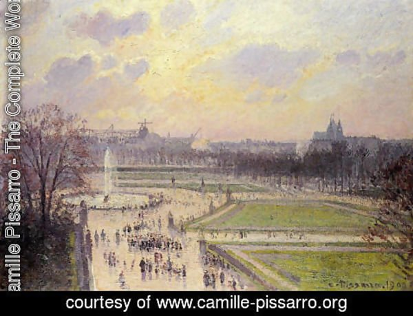 Camille Pissarro - The Bassin des Tuileries: Afternoon