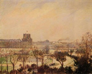 Camille Pissarro - The Tuileries Gardens: Snow Effect