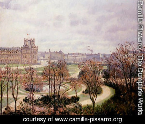 Camille Pissarro - View of the Tulleries: Morning