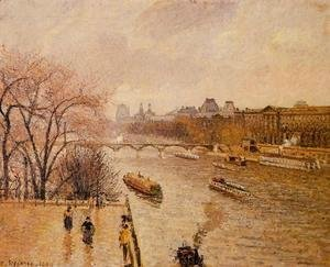 Camille Pissarro - The Louvre: Afternoon, Rainy Weather