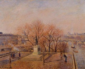 Camille Pissarro - Ponty-Neuf, the Statue of Henri IV, Sunny Weather, Morning