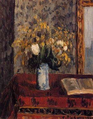Vase of Flowers, Tulips and Garnets