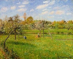 Camille Pissarro - Morning, Spring, Grey Weather, Eragny