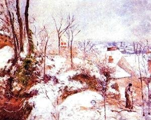 Camille Pissarro - A Cottage in the Snow