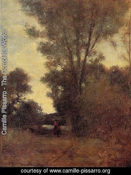 Camille Pissarro - Horseman in the Forest
