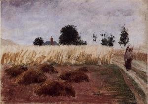 Camille Pissarro - Peasant Woman on a Country Road