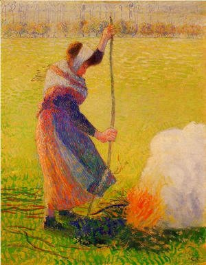 Camille Pissarro - Woman Burning Wood