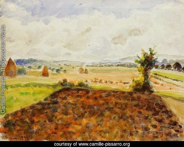 Landscape at Eragny, Clear Weather
