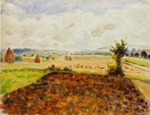 Camille Pissarro - Landscape at Eragny, Clear Weather