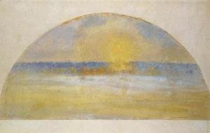 Sunset with Mist, Eragny
