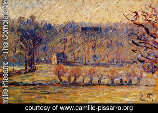 Camille Pissarro - The Coast at Vaches-Bazincourt: Snow Effect