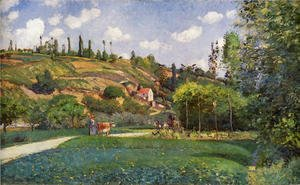 Camille Pissarro - A Cowherd on the Route de Chou, Pontoise