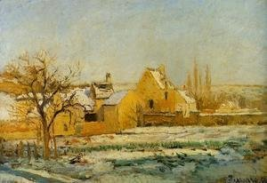 Camille Pissarro - The Effect of Snow at l'Hermitage