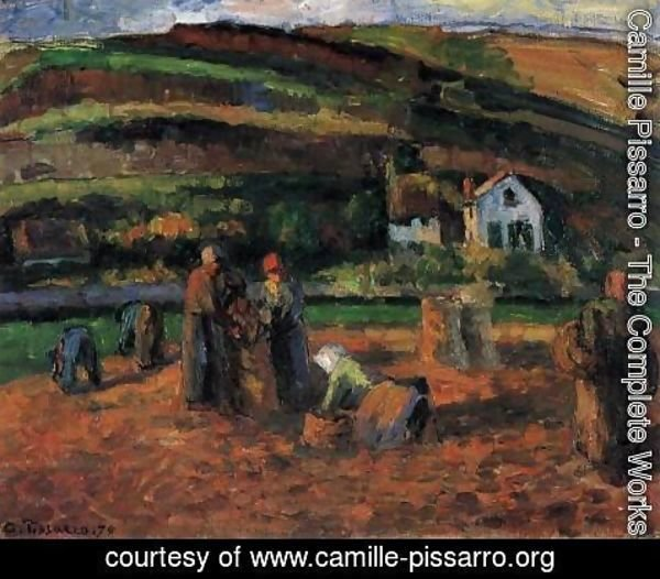 Camille Pissarro - The Potato Harvest