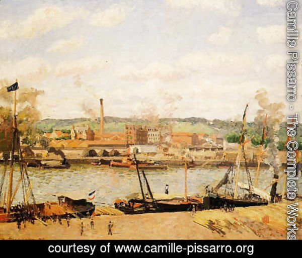 Camille Pissarro - View of the Cotton Mill at Oissel, near Rouen