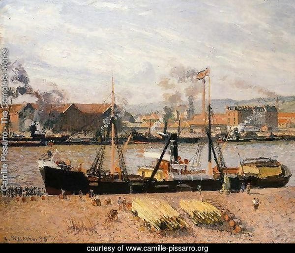 The Port of Rouen: Unloading Wood