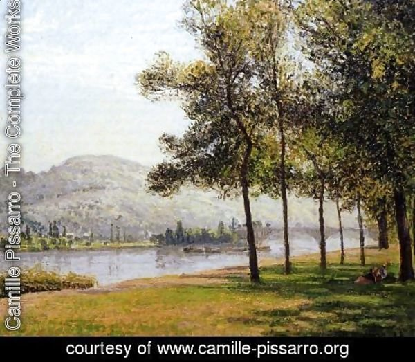 Camille Pissarro - The Cours-la-Reine at Rouen; Morning, Sunlight