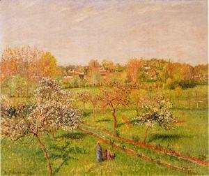 Camille Pissarro - Morning, Flowering Apple Trees, Eragny