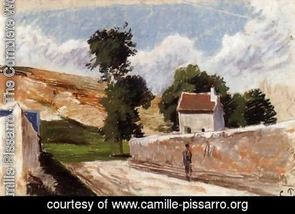 Camille Pissarro - A Street in l'Hermitage, Pontoise