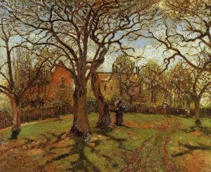 Camille Pissarro - Chestnut Trees, Louveciennes, Spring