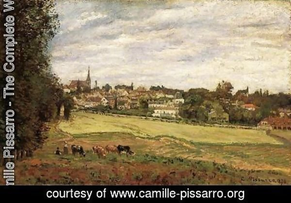 Camille Pissarro - View of Marly-le-Roi