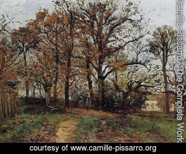 Camille Pissarro - Trees on a Hill, Autumn, Landscape in Louveciennes