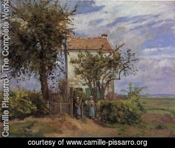 Camille Pissarro - The House in the Fields, Rueil
