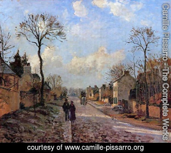 Camille Pissarro - A Road in Louveciennes