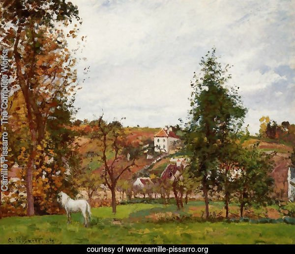 Landscape with a White Horse in a Meadow, L'Hermitage