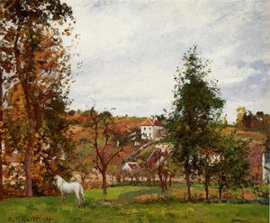 Camille Pissarro - Landscape with a White Horse in a Meadow, L'Hermitage