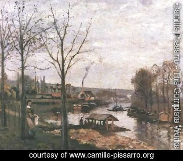 Camille Pissarro - Wash-House at Bougival