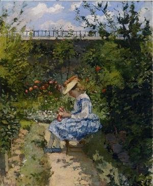 Jeanne in the Garden, Pontoise